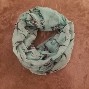 Accessories - 💥2 for $20💥Pale Blue & White Sparrow Unity Scarf